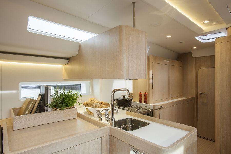 Swan 54 interni cucina